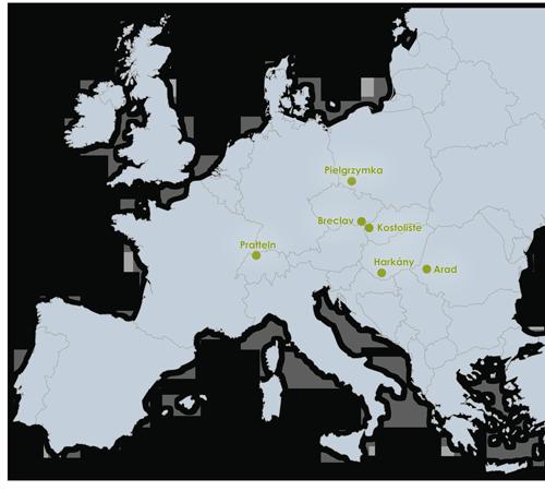 Partnerstandorte Europa cargomando Kuriernetzwerk